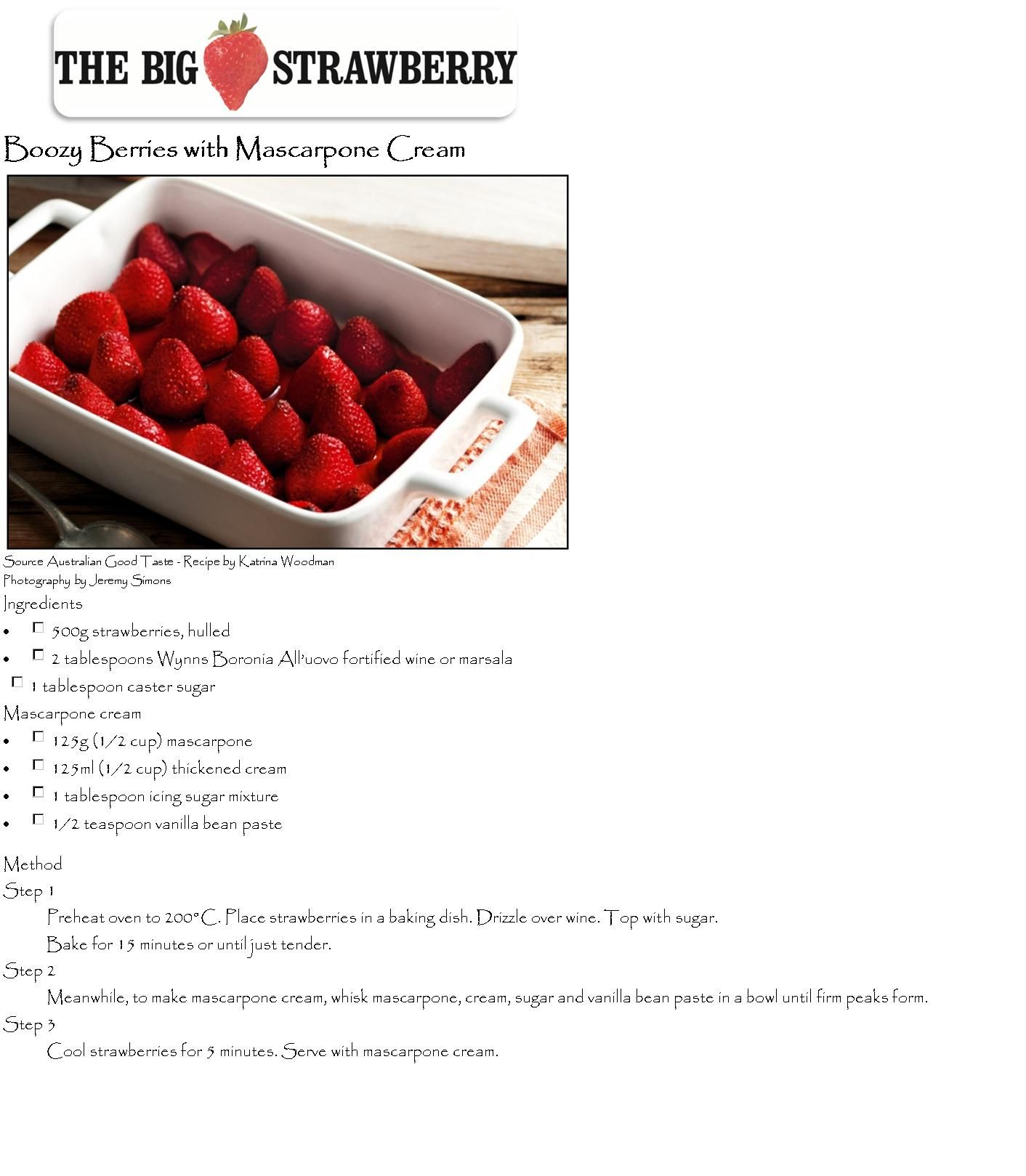 Boozy Berries with Marcarpone Cheese
