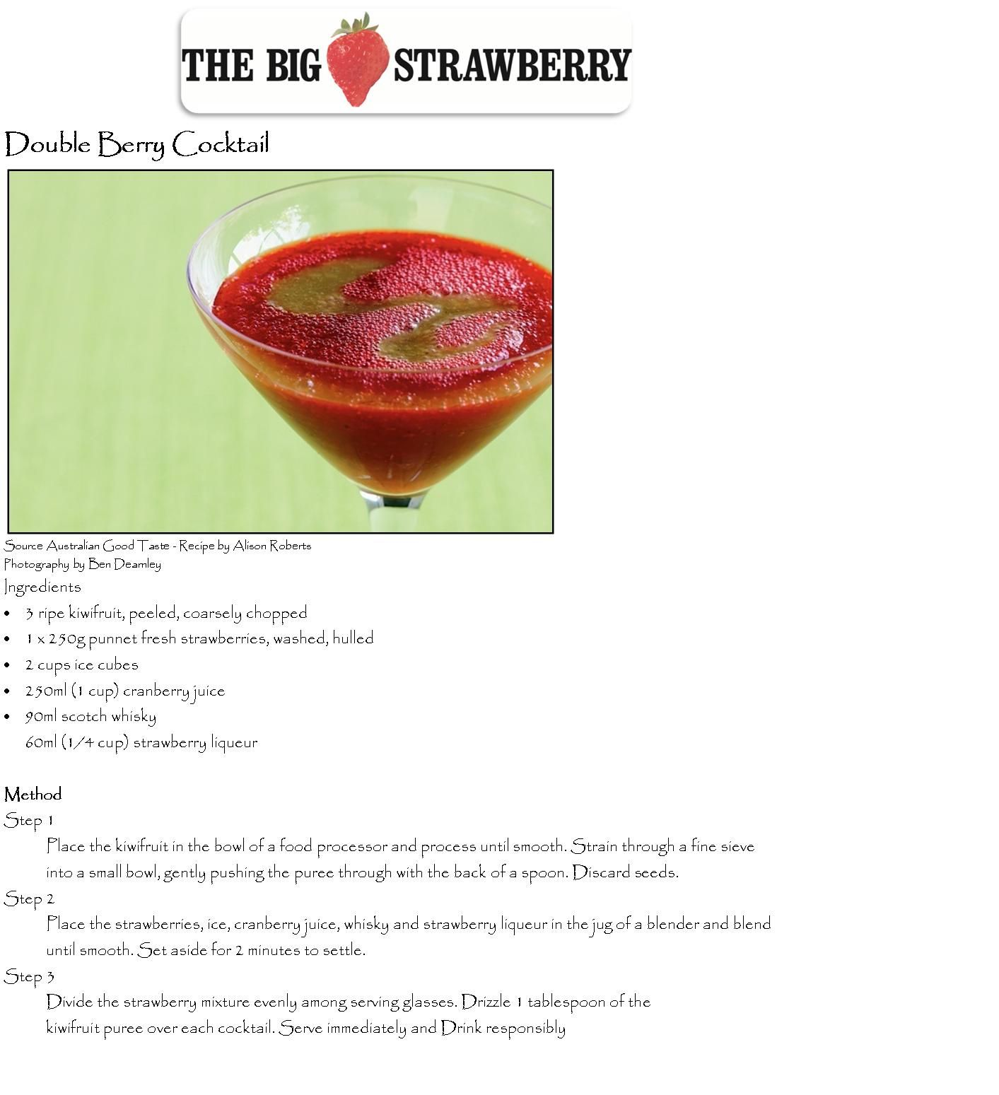 Double Berry Cocktail