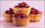 Amaretti Cheesecake with Morello cherries & strawberries