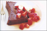 Chocolate Baked Ricotta with White Balsamic Strawberries