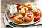 Dairy Free Strawberry & Lime Friands