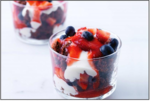 Flourless Chocolate Cake with Strawberries