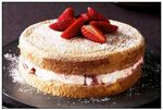 Strawberries & Cream Sponge