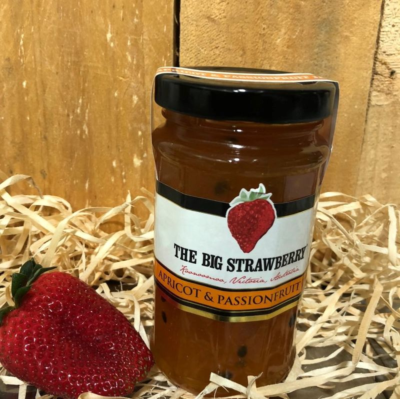 Big Strawberry Apricot + Passionfruit Jam 290g