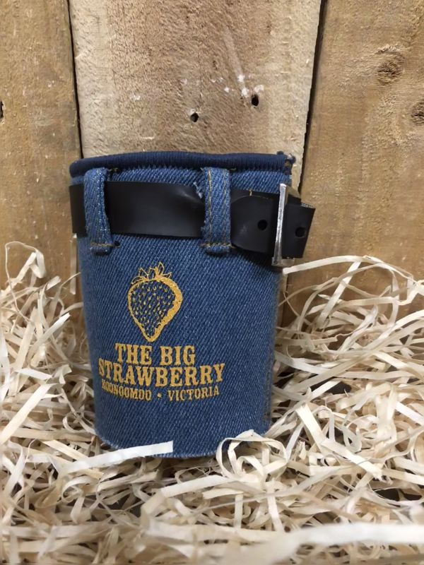 Big Strawberry Denim style stubby holder