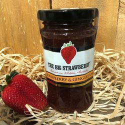 Big Strawberry+quotStrawberry+quot + Ginger Jam 290g
