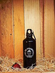 Big Strawberry Aluminium Flask-BLACK