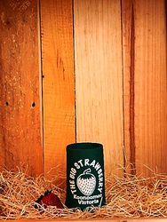 Big Strawberry Foam Stubby Holder-GREEN