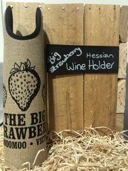 Big Strawberry Hessian Wine CarrierCooler