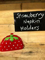 Big Strawberry Napkin Holder