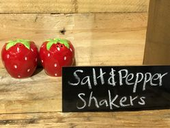 Big Strawberry Salt & Pepper Shakers