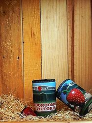 Big Strawberry Stubby Holder with picture