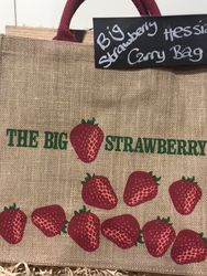 Big Strawberry shoppiingCarry bag